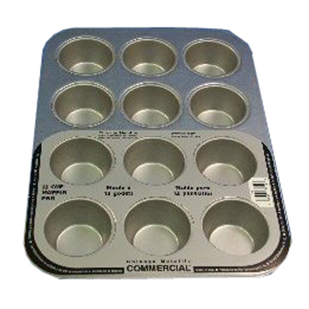 Chicago Metallic Commercial 12-Cup Standard Muffin Pan