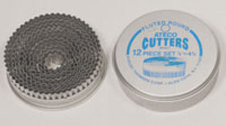 Ateco 12-Pc. Fluted Round Cutter Set