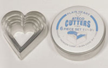 Ateco 6-Pc. Heart Cutter Set