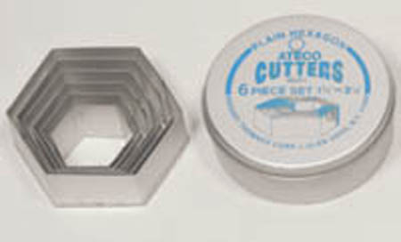 Ateco 6-Pc. Hexagon Cutter Set