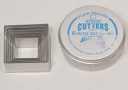 Ateco 6-Pc. Square Cutter Set