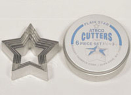 Ateco 6-Pc. Star Cutter Set