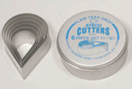Ateco 6-Pc. Tear Drop Cutter Set