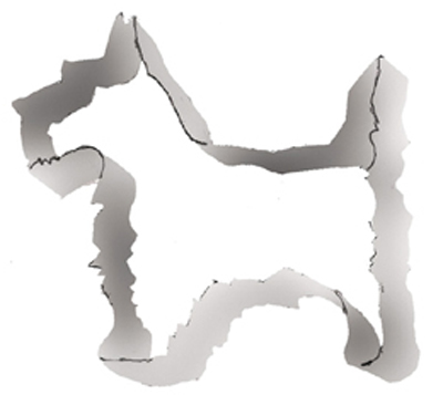 TBK Scottie Dog  Cookie Cutter