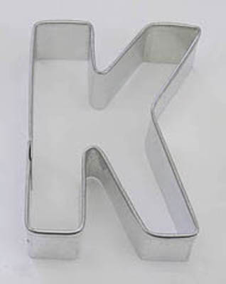TBK Letter K  Cookie Cutter
