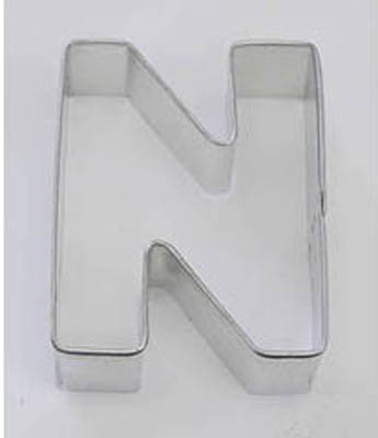 TBK Letter N  Cookie Cutter