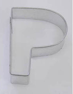 Letter P TBK Cookie Cutter
