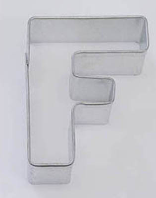 TBK Letter F  Cookie Cutter