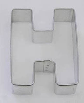 TBK Letter H  Cookie Cutter