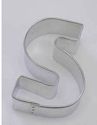TBK Letter S  Cookie Cutter