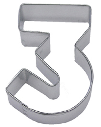 Number 3 TBK Cookie Cutter