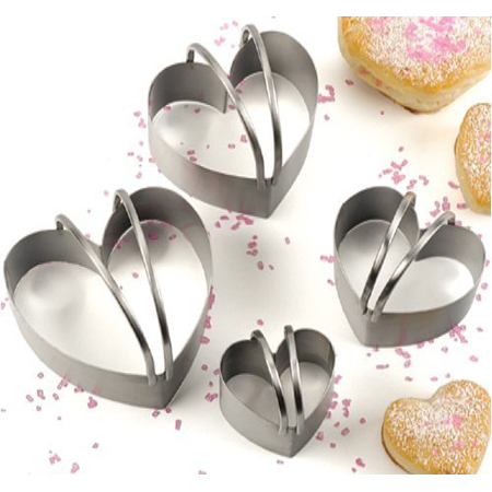 RSVP 4-Pc. Heart Shaped Biscuit Cutter Set