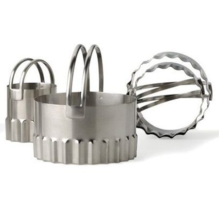 4-Pc. Round Rippled Biscuit Cutter Set