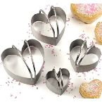 4-Pc. Heart Shaped Biscuit Cutter Set