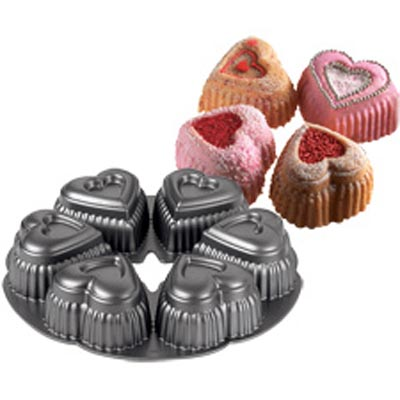 6 Cavity Mini Hearts Wilton Dimensions Pan