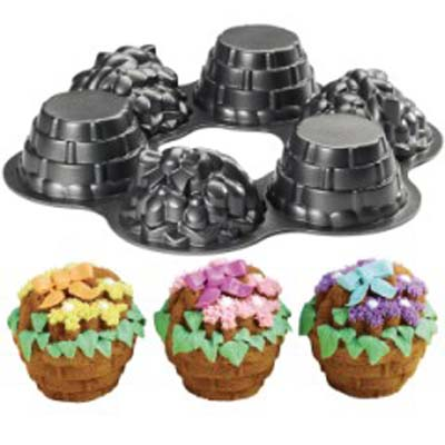 Wilton Multi-Cavity Mini Flower Baskets Dimensions Cake Pan