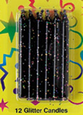 Bakery Crafts Glitter Candles Black