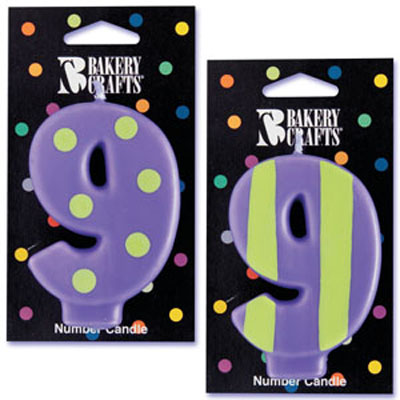 Bakery Crafts Number 9 Candle