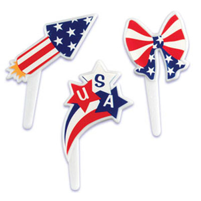 Bakery Crafts 4th of July Assortment Cupcake Picks
