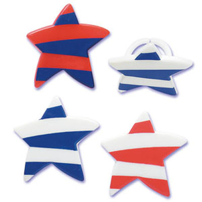 Red, White and Blue Star Cupcake Rings