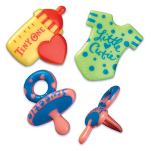 Bakery Crafts Cute Baby Assortment Cupcake Rings