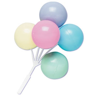 Bakery Crafts Pastel Color Balloon Cluster Cupcake Picks
