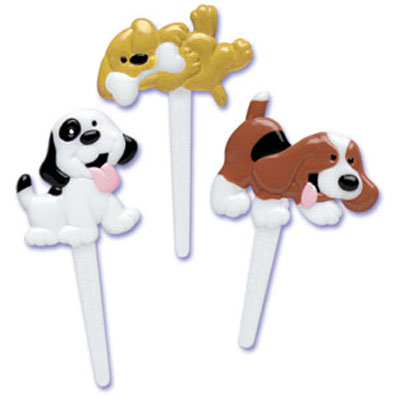 Bakery Crafts Puppy Dog Puffy Cupcake Picks