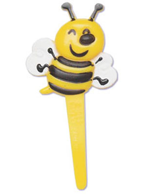 Bakery Crafts Bumble Bee Puffy Cupcake Picks