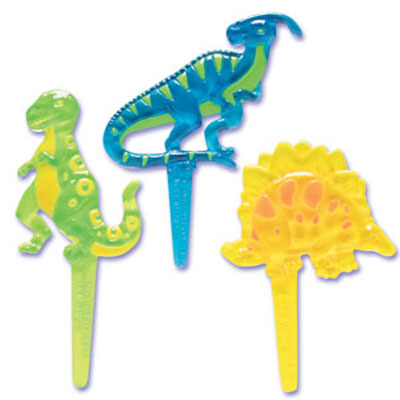 Bakery Crafts Dinosaur Puffy Cupcake Picks