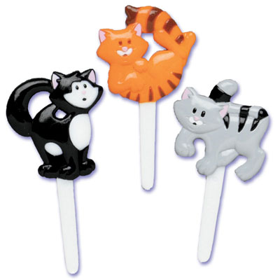 Kitty Cats Puffy Cupcake Picks