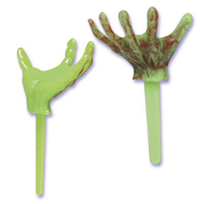 Bakery Crafts Halloween Monster Hand Cupcake Picks