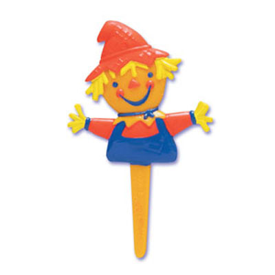 Bakery Crafts Scarecrow Puffy Cupcake Picks
