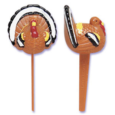 Bakery Crafts 3-D Turkey Cupcake Picks