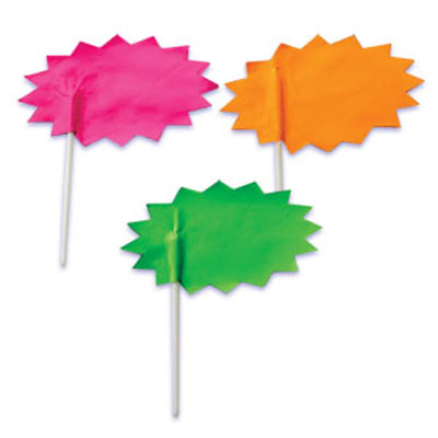 Bakery Crafts Starburst Signs Cupcake Picks