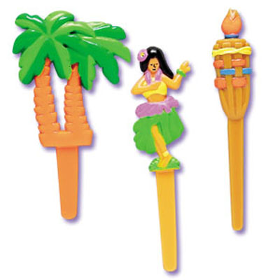 Hawaiian Luau Cupcake Picks