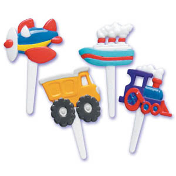 Bakery Crafts Transportation Puffy Cupcake Picks
