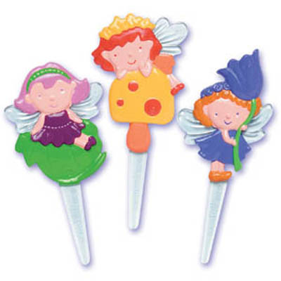 Bakery Crafts Cute Fairies Cupcake Picks