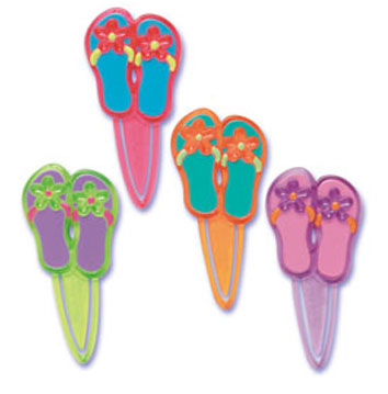 Bakery Crafts Flip Flops Cupcake Picks