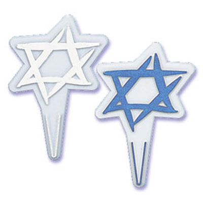 Bakery Crafts Star of David Cupcake Picks