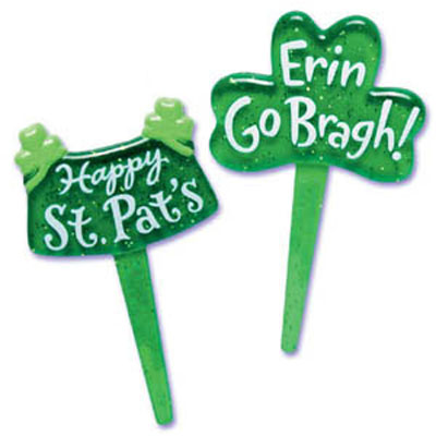 Bakery Crafts St. Patrick's Day Puffy Cupcake Picks