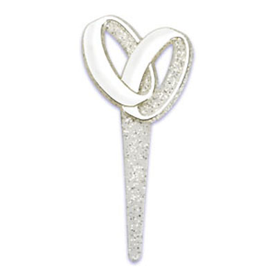 Silver Wedding Bands Cupcake Picks