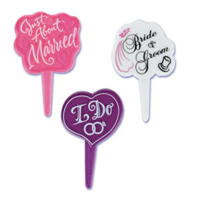 Wedding Assortment Cupcake Picks