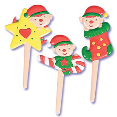 Elves Puffy Cupcake Picks