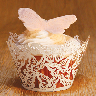 Paper Orchid Cupcake Wrappers Butterflies Design