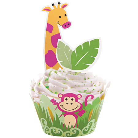 Wilton Jungle Pals Cupcake Wraps