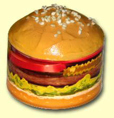 Roundabout Hamburger Cupcake Wrappers 12 ct.