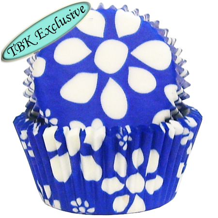 TBK Blue Flower Print Baking Cups
