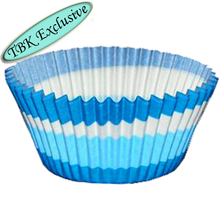 TBK Blue Swirl Design Jumbo Baking Cups