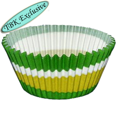 Green Swirl Design Jumbo Baking Cups