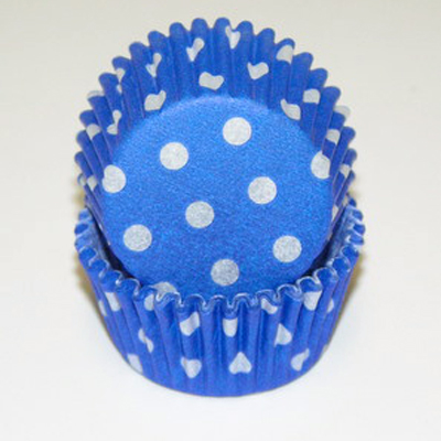 Blue Polka Dots Baking Cups